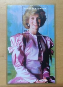 #1 1997 Princess of Wales Lady Diana Miniature Stamp MNH Republic Du Niger