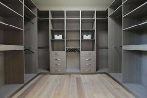 Generous Dressing Room Wardrobe Internal Storage Shelving Made To Measure Custom Design