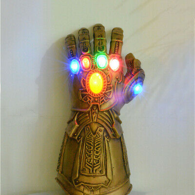 Movie Avengers 3//4 Infinity War Thanos Cosplay Glove LED Light PVC Gauntlet 2019