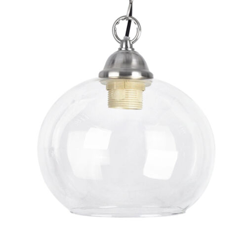 Classic style clear glass dome ceiling lamp pendant light shade ebay aloadofball Gallery