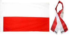 Wholesale-Combo-Set-Poland-Polish-Country-3x5-3-x5-Flag-and-8-034-x60-034-Scarf