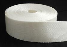 """2 inch White Heavy Nylon Webbing 5 yards ( 2"""" Nylon) Strapping Brand NEW"""