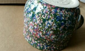 BIG multi color spongeware Henn Pottery Workshops of Gerald Henn mug unusual