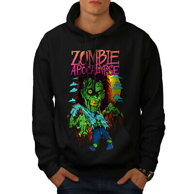 Begeistert Wellcoda Zombie Apocalypse Horror Mens Hoodie, Casual Hooded Sweatshirt