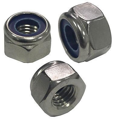 Un Dôme Nyloc nylon Insérer Verrouillage écrous A2 Acier Inoxydable M4 M5 M6 M8 M10 M12 M16
