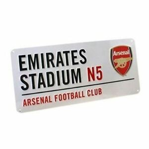ARSENAL-EMIRATES-STREET-SIGN-KIDS-WALL-DECOR-HANGING-OFFICIAL