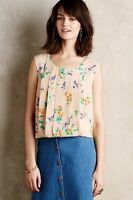 $88 Anthropologie Pleated Petals Tank Small By Meadow Rue Top Blouse
