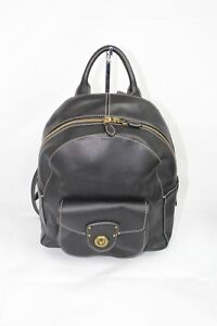 6e9a425876 Image is loading Ralph-Lauren-Millbrook-Medium-Black-Leather-Backpack-Women-