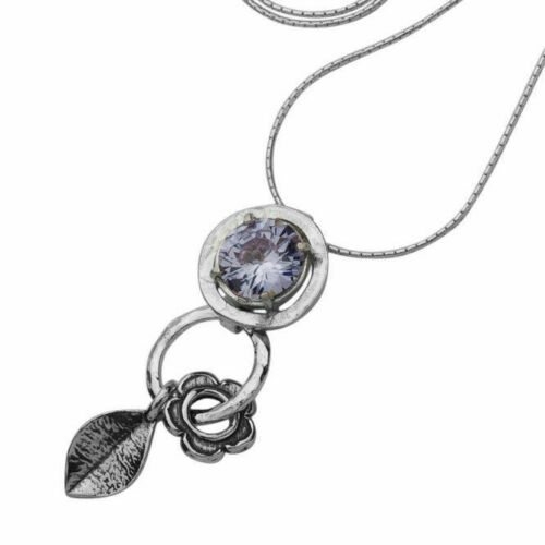 New Shablool Jewelry Amazing lilac Lavender CZ Necklace for Women