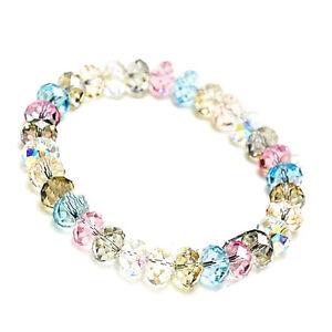 Kristall-Perlenarmband-Damen-Armband-Strass-Gummizug-Modeschmuck-Schmuck