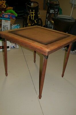 Vintage Leg O Matic Card Folding Table