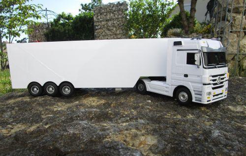 LKW Mercedes Actros 1 32 32 32 weiss 3 Kanal 27Mhz Jamara RC Fernsteuerung Top 403640 ae71ba