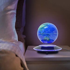 """6"""" Levitating Globes Levitation Floating Globe Magnetic World Map LED Lamp USA"""