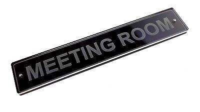 Signo de sala de reuniones para Puerta Placa Pared corporativa de la escuela de negocios minoristas Hotel