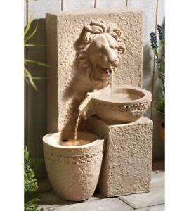 Gardenwize-Garden-Outdoors-Solar-Powered-Lion-Head-Stone-Water-Feature-Fountain