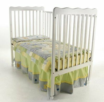 NEW! DREAM ON ME CLASSIC 2 IN 1 CONVERTIBLE STATIONARY SIDE CRIB, (WHITE)