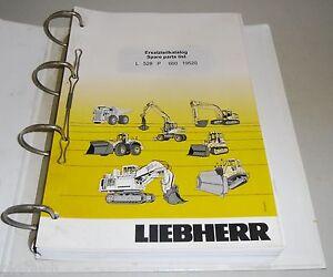 Spare Parts Catalog List Liebherr Wheel Loader L 528 P Stand 09/2007