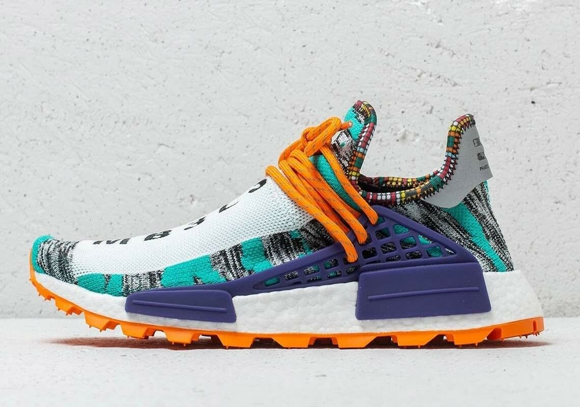 Adidas x Pharrell Williams Human Race NMD Solar Hu orange BB9528 Sz 4  Women's 5