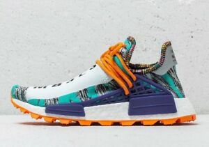 62e463e0b Adidas x Pharrell Williams Human Race NMD Solar Hu Orange BB9528 Sz ...