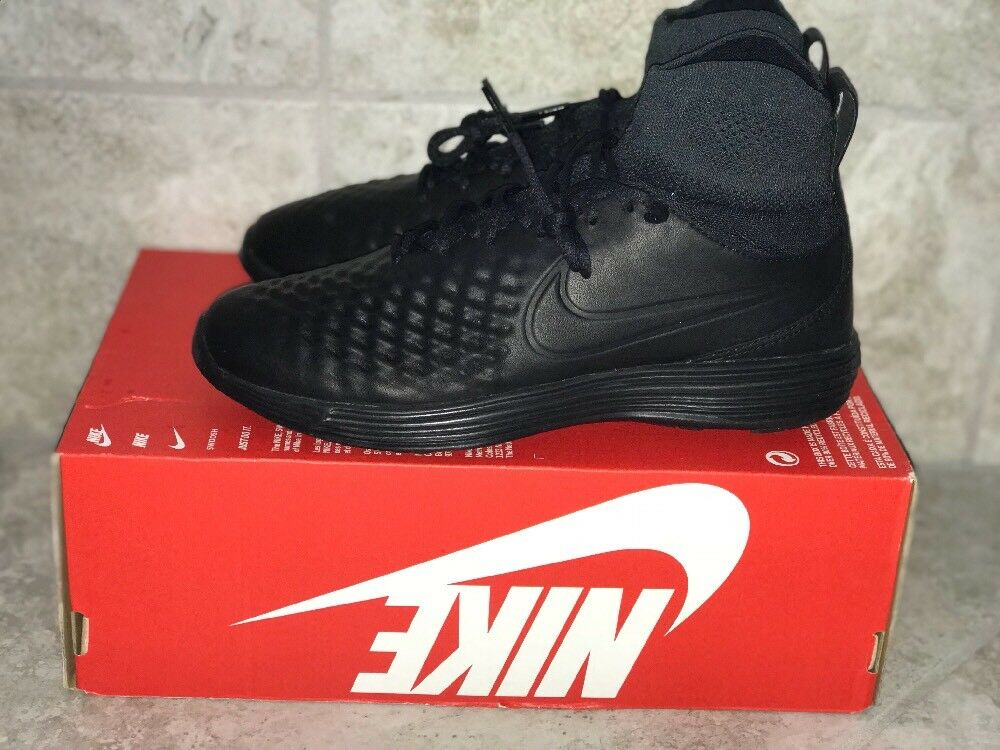 Nike Lunar Magista II?Flyknit?852614 001 Black Anthracite Size: 7