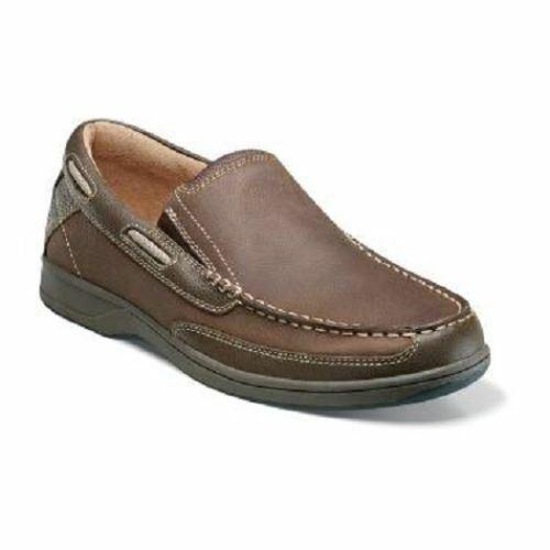 Florsheim Men/'s Lakeside Slip On Boat Shoe Stone 13158-275