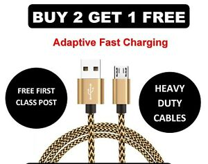 Braided-USB-A-2-0-to-Micro-USB-B-2-0-Short-Samsung-Fast-Adapter-Charger-Cable
