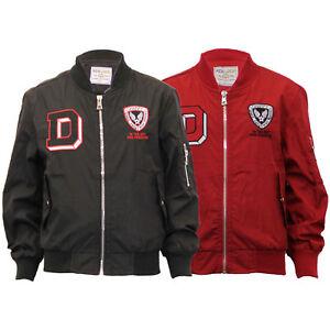 82ffeb50863b Boys Summer Jacket Kids Baseball Applique MA1 Badge Military Flight ...