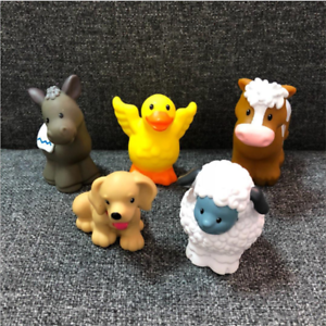 LOTTO-5pcs-Fisher-Price-Little-People-Fattoria-Zoo-Animale-Agnello-cane-donkey-doll-toy