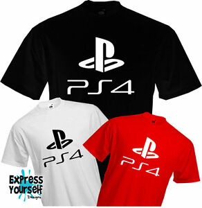 53845cc1 PS4 - PLAYSTION 4 - T Shirt, Logo, Gaming, Present, Fun, Cool ...