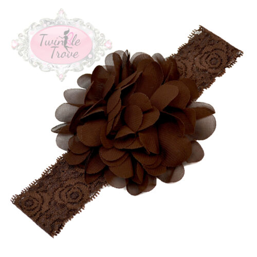 Baby Toddler/'s Large Flower Headbands Hairbands Soft Fabric Hair Lace Band