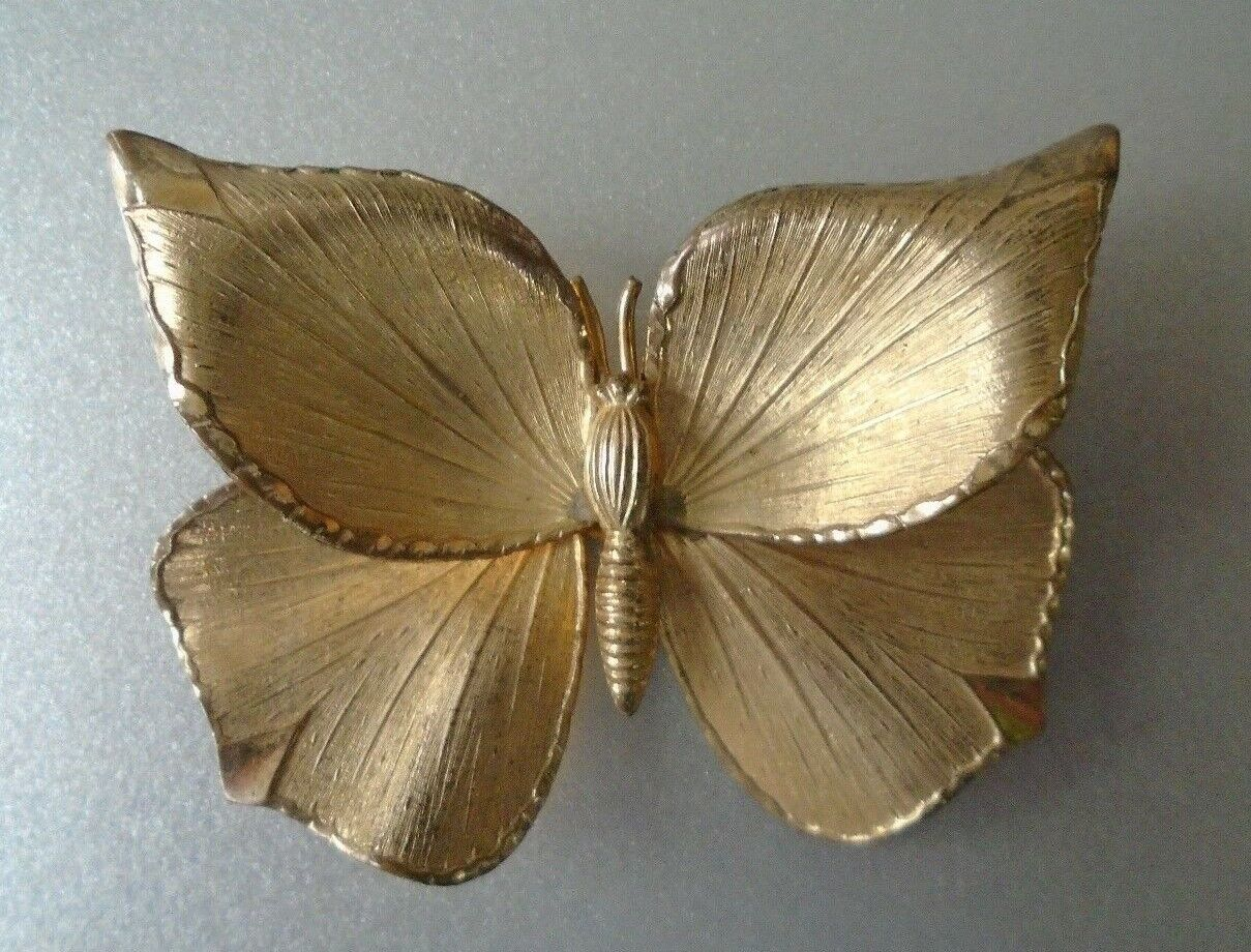 Vintage Creed 12 KT gold Butterfly Brooch Pin