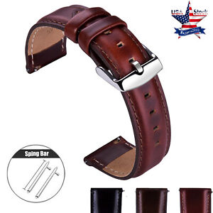 18-20-22mm-Quick-Release-Genuine-Leather-Watch-Band-Wrist-Men-039-s-Eco-Drive-Strap
