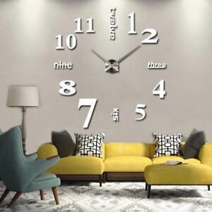 2016 new arrival 3d big size quartz clocks living room home decor rh ebay co uk  black mantel clocks for living room