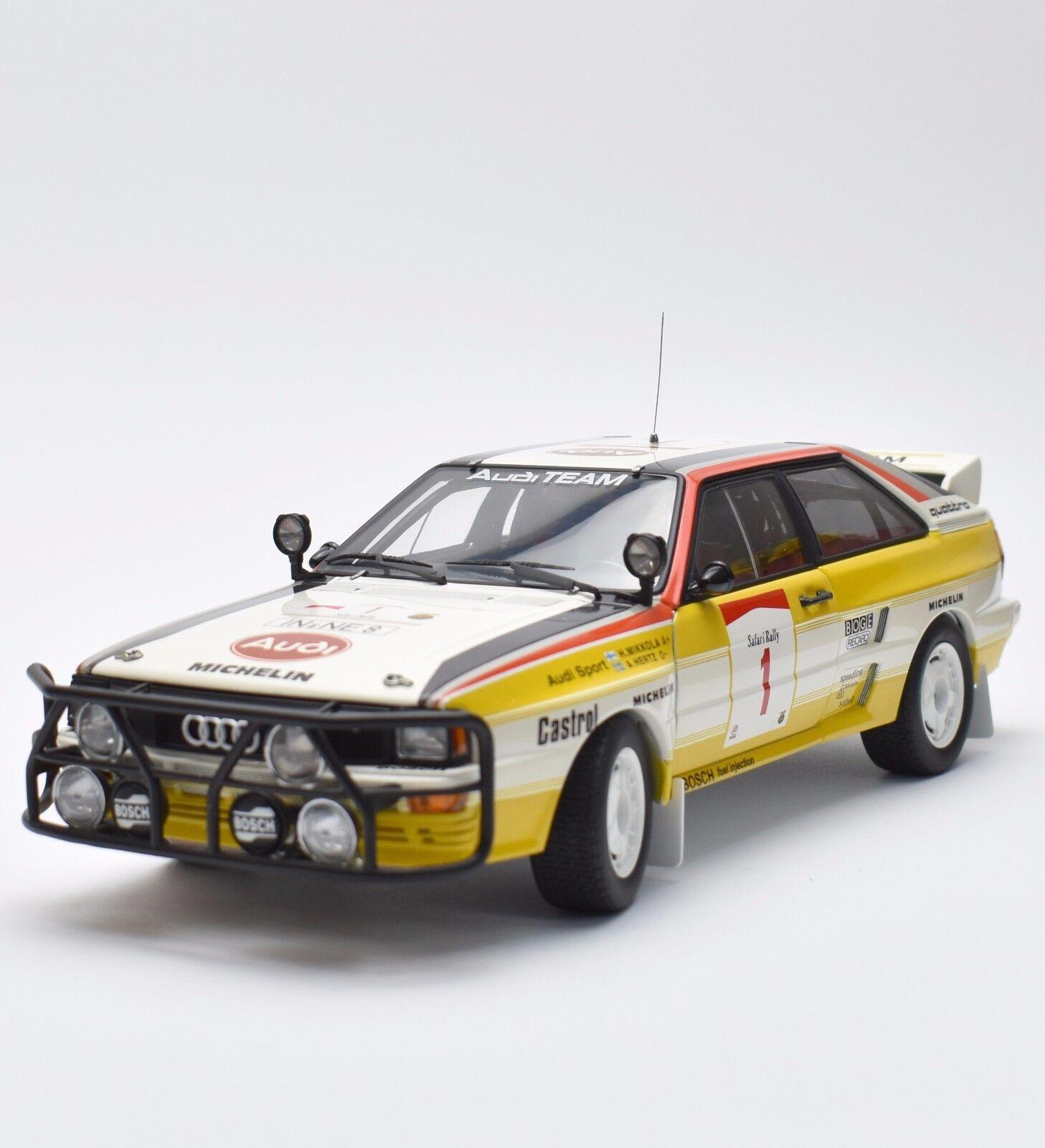 AUTOart Rarität Audi quattro Safari rallye 1984 H. Mikkola  18, OVP, K018