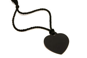 Personalised-Large-Black-Heart-Bookmark-With-Gift-Box-Any-Message-Engraved