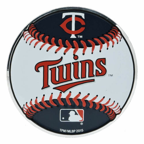 "MLB Officially Licensed Baseball Minnesota Twins Aluminum Emblem 3.25/""x3.25/"""