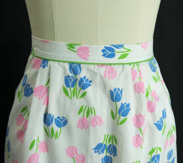 Vintage Tulip Print Skirt SweetNovelty Print Past… - image 4