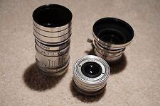 Argus C3, Sandmar Lenses - 35mm, 50mm, 100mm - and Canon EF Adapter LENS HACK
