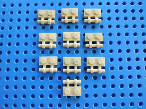 LEGO 10 x plaque 1x2 Latérale Poignée Barre 2540 beige tan