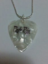 Guitar Pick Pendant Necklace PRINCE PURPLE RAIN Rock 18 IN.RAIN DROPS ON BACk
