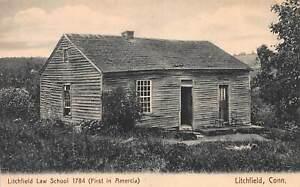 Litchfield-Law-School-1784-Litchfield-Connecticut-Early-Postcard-Unused
