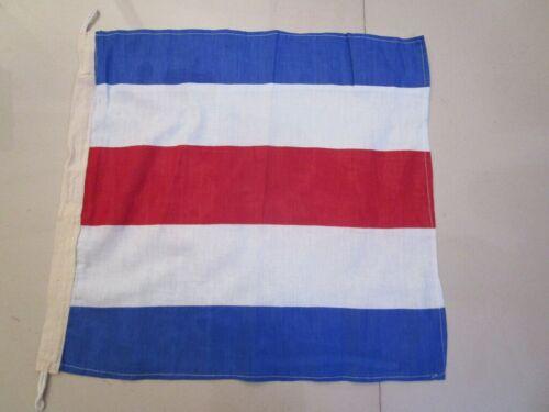 "Naval Signal Flag C 100/% Cotton – Marine Code 15/"" X 15/"" Nautical // Boat"