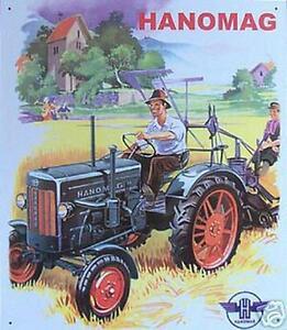 altes blechschild oldtimer traktor hanomag schlepper. Black Bedroom Furniture Sets. Home Design Ideas