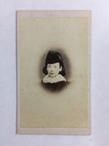 Victorian-Carte-De-Visite-CDV-Young-Girl-F-Cooper-London-1870-Fur-Collar