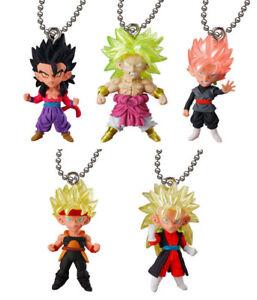 Bandai Dragon Ball Super DBZ Figure UDM Best 23 Keychain Goku Jiren Set 5 pcs