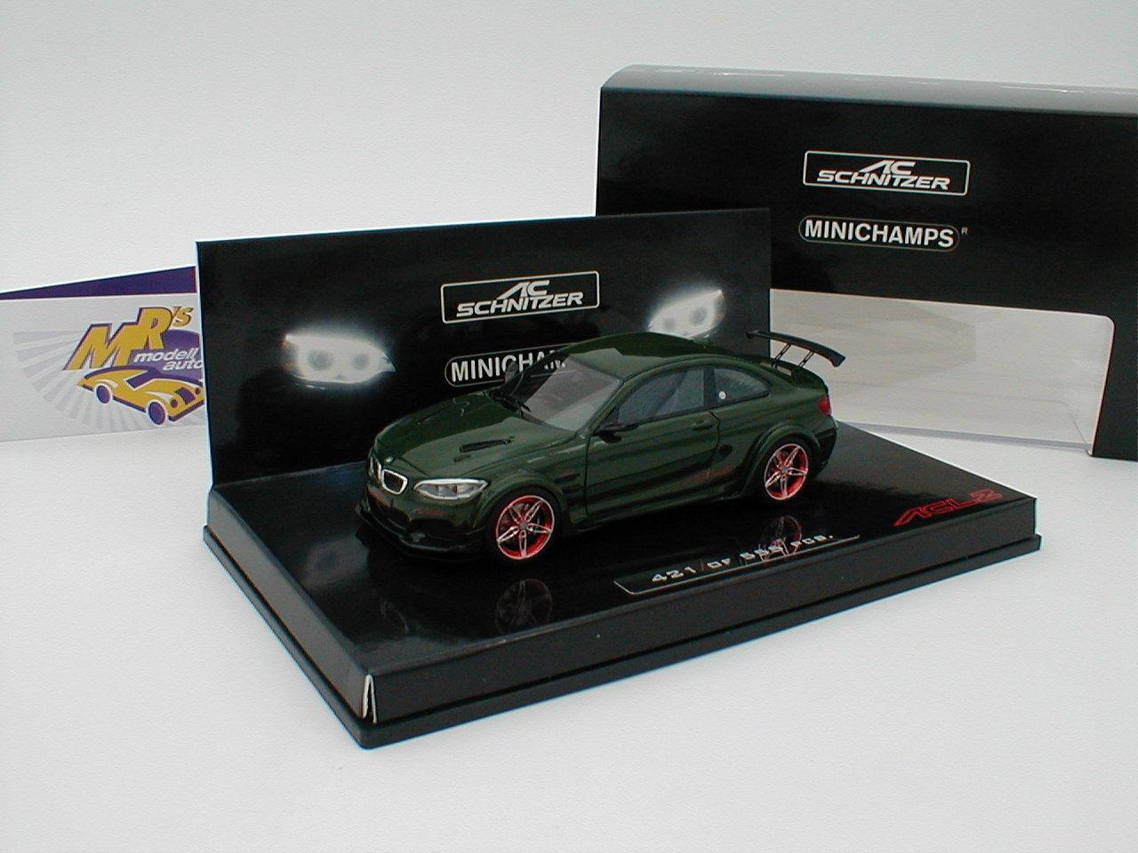 MINICHAMPS 437026020-BMW AC Boulette acl2 Coupe Année 2016  vert foncé  1 43