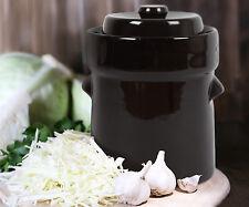 5L Kenley Fermentation Crock Jar Bucket Fermenting Pickling Kimchi Sauerkraut