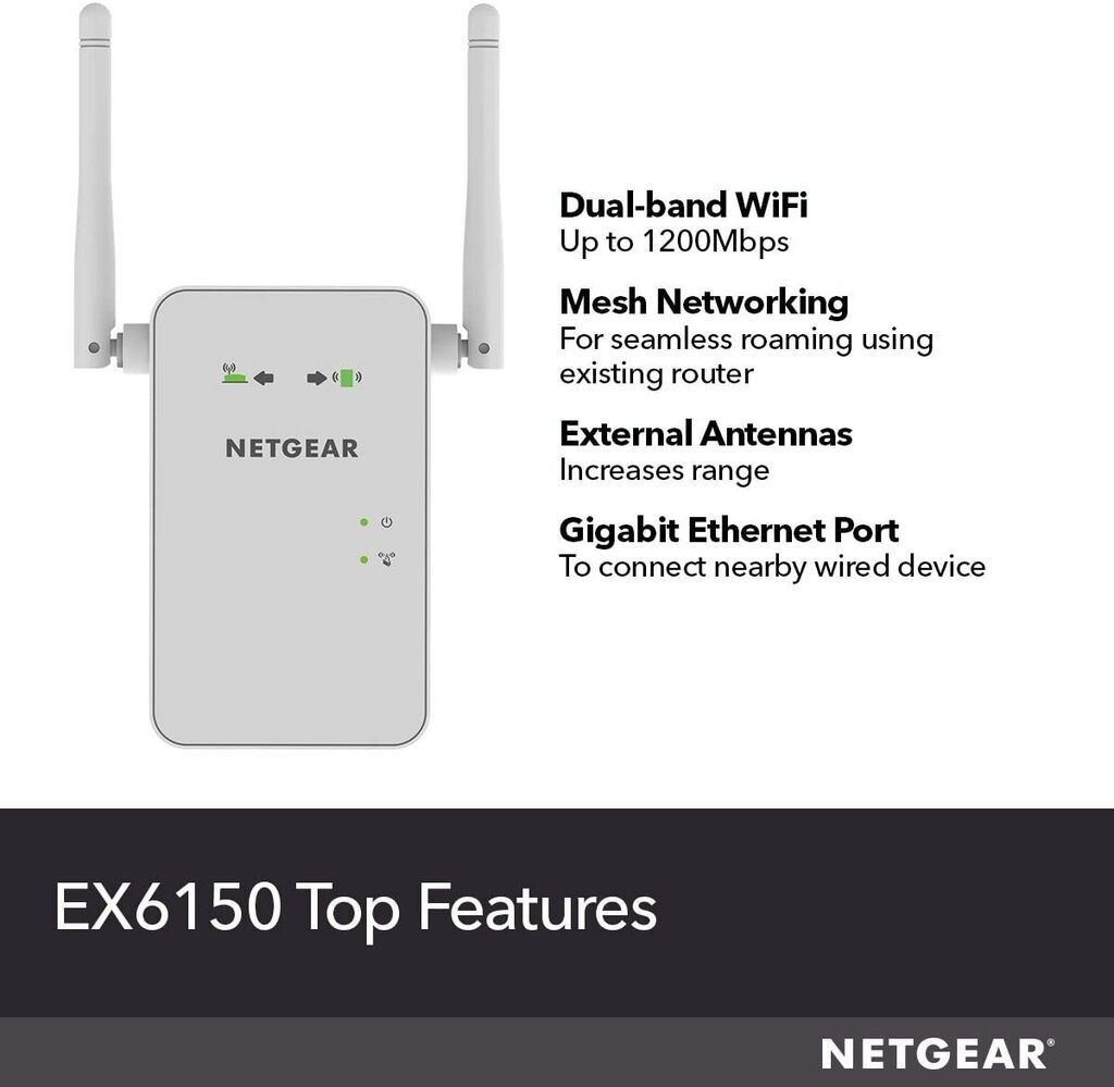 NETGEAR EX6150 Dual Band Wi-Fi Mesh Range Extender Signal Booster | Ebay