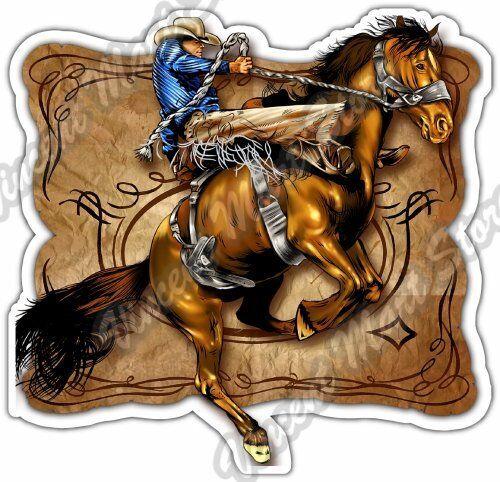 Texas Cowboy Rodeo Sign Car Bumper Sticker