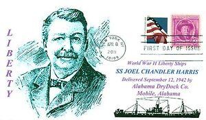 Joel-Chandler-Harris-Nave-Detto-per-Famosi-American-Autore-Primo-Day-Of-Issue-Pm